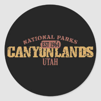 Canyonlands National Park Classic Round Sticker