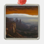 CANYONLANDS NATIONAL PARK, UTAH. USA. View Silver-Colored Square Ornament