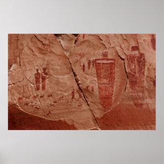 canyonlands rock art poster