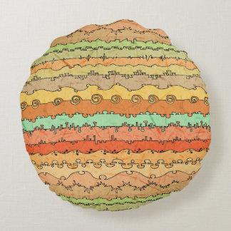 Canyonlands Veldt Round Pillow