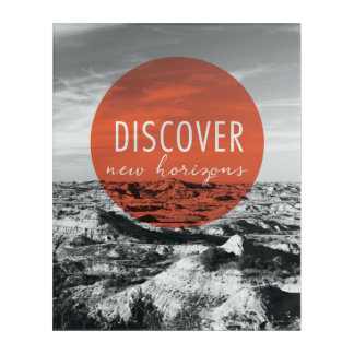 Canyons | Discover New Horizons Quote Acrylic Wall Art