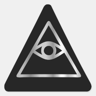 Cao dai Eye of Providence- Religious icon Triangle Sticker