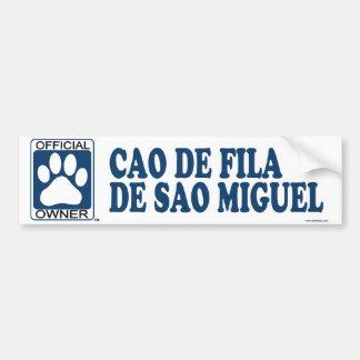 Cao De Fila De Sao Miguel Blue Bumper Sticker