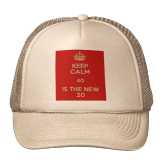 cap 40 years, keep calm 40, 40 years old trucker hat