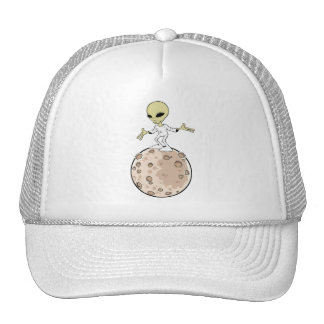 "Cap ""Alien on planet "" Trucker Hat"