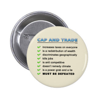 Cap And Trade Scam 2 Inch Round Button