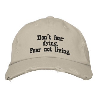 Cap does not have fear embroidered hats