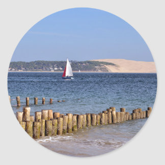 Cap-Ferret in France Classic Round Sticker
