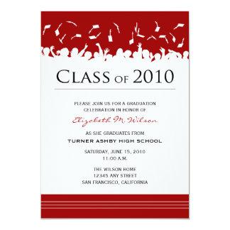 Cap & Gown 2011 Graduation Announcement (red)
