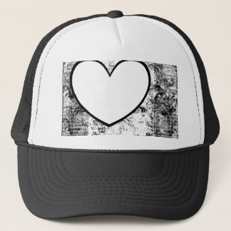 Cap, Hat,  Heart Photo Insert Frame Grunge Trucker Hat