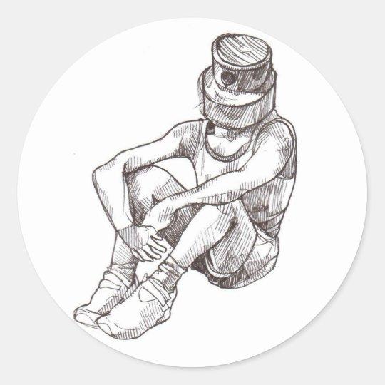 CAP head Classic Round Sticker