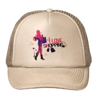 "Cap ""I Love Shopping "" Trucker Hat"