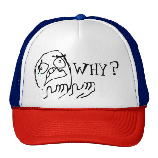"Cap meme ""why"" diverse colors trucker hat"
