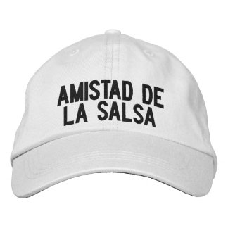 Cap of Amistad of the Salsa Embroidered Hat