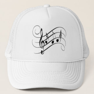 Cap of Designer Truck driver Musical Notes