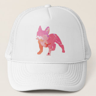 Cap of lady, cap fashion, French bulldog