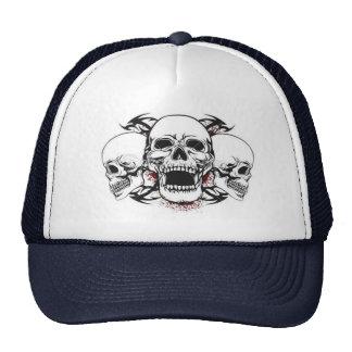 Cap of skull trucker hat