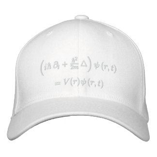 Cap, Schrodinger wave equation, white thread Embroidered Baseball Caps