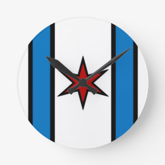 Cap Shield Wall Clotck Round Clock