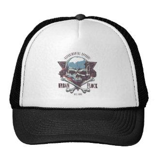 Cap Skull Urban Flock Trucker Hat