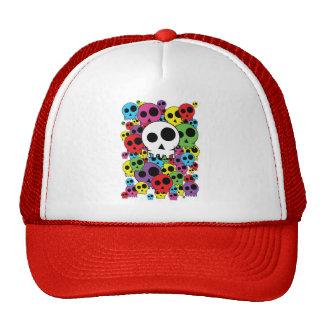 cap skulls trucker hat