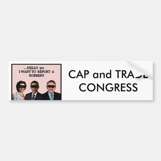 Cap/Trade Congress Bumper Sticker