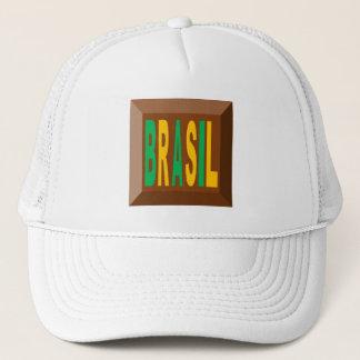 CAP TRUCKER   NEW DESIGN BRASIL CHOCOLATE