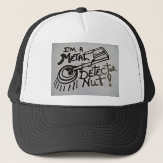 Cap with metal detector design on front of it.