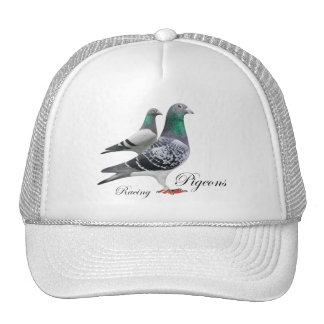 Cap with pair of carrier pigeons trucker hat
