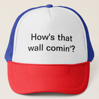 Cap with political slogan