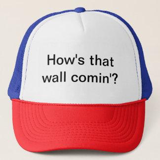 Cap with political slogan