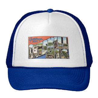 Cap with vintage Catskill Mts postcard Trucker Hat