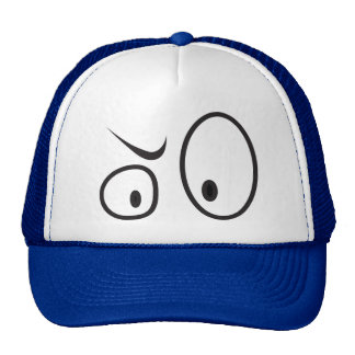 "Cap with ""WTF?"" Eyes Trucker Hat"