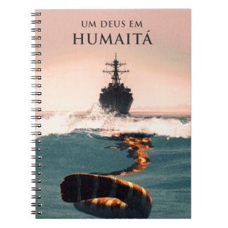 """Capa do livro """"Um Deus em Humaitá"""" Spiral Notebook"""