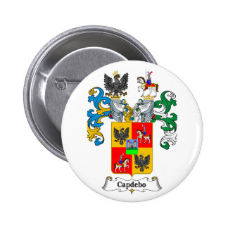 Capdepo Family Hungarian Coat of Arms 2 Inch Round Button