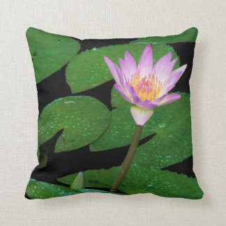 Cape Blue Water Lily (Nymphaea Capensis) Throw Pillow