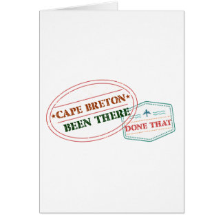 Cape Breton Been there done that Card