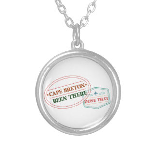 Cape Breton Been there done that Silver Plated Necklace