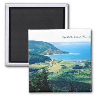 Cape Breton Coastline Square Magnet