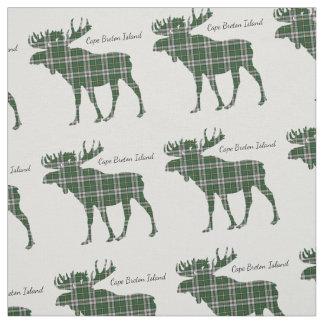 Cape Breton Island moose tartan fabric