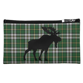 Cape Breton Tartan cosmetic bag moose