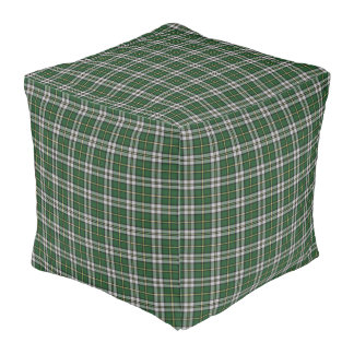 Cape Breton Tartan Custom green Plaid pouf