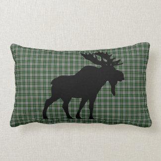 Cape Breton Tartan Custom Moose green Plaid Lumbar Pillow