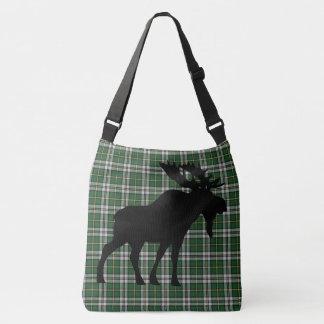 Cape Breton Tartan cute moose Cross Bag