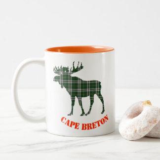 Cape Breton tartan moose coffee cup