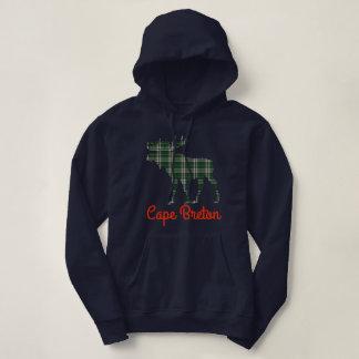 Cape Breton tartan moose cute hoodie