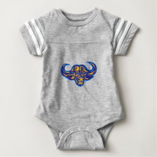 Cape Buffalo Head Retro Baby Bodysuit