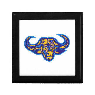 Cape Buffalo Head Retro Gift Box