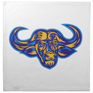 Cape Buffalo Head Retro Napkin
