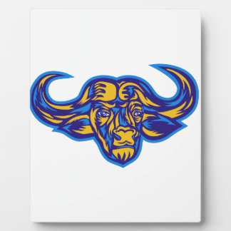Cape Buffalo Head Retro Plaque